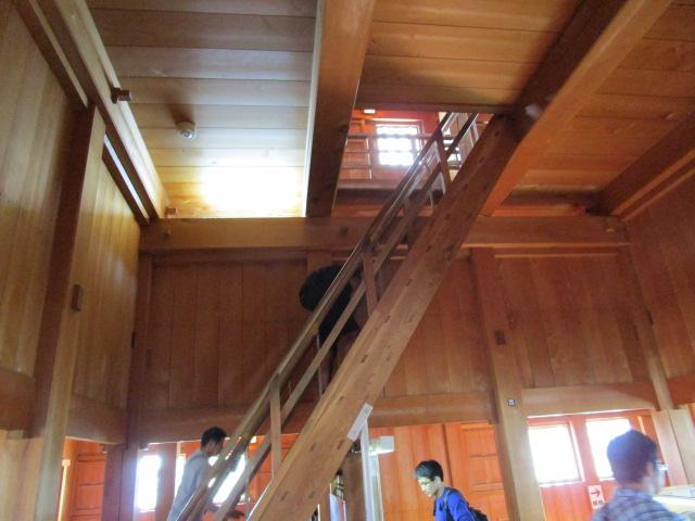 掛川城 階段の傾斜